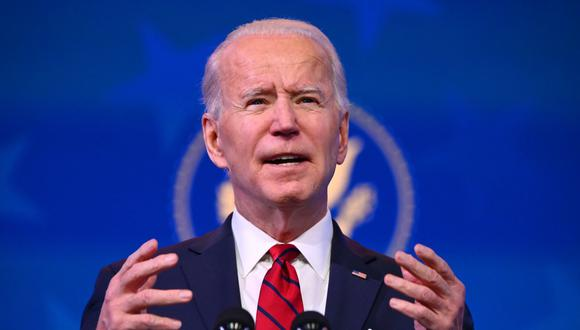 Joe Biden planea firmar una decena de órdenes ejecutivas en su primer día en la Casa Blanca. (Foto: ANGELA WEISS / AFP)