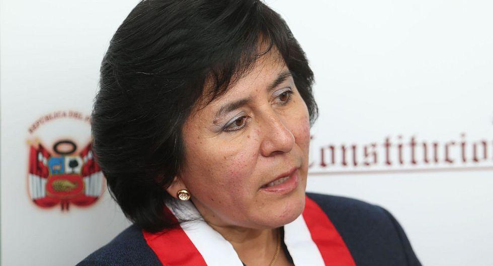 Marianella Ledesma juramentó este viernes como nueva presidenta del Tribunal Constitucional. (Foto: Andina)
