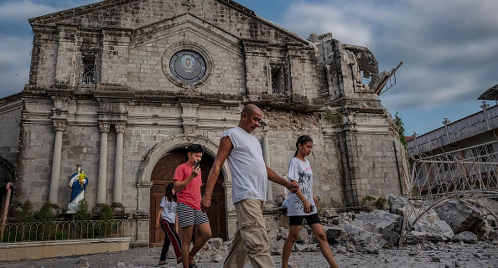 Más de 400 réplicas se han registrado desde el terremoto de magnitud 6.1, del día 22 de abril, en Filipinas. (GETTY)