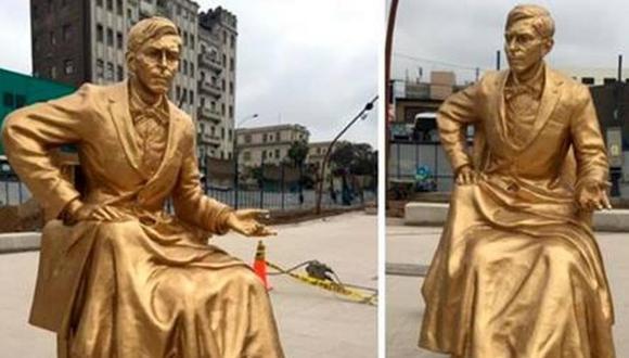 Esculturas fueron pintadas de dorado. (Facebook)