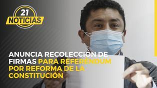 Congresista de Perú Libre Bermejo anuncia inicio de recolección de firmas para referéndum por reforma de la Constitución
