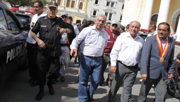 Titular del Interior dice que en Pucalá todo está controlado por un grupo de agentes. (Nadia Quinteros)