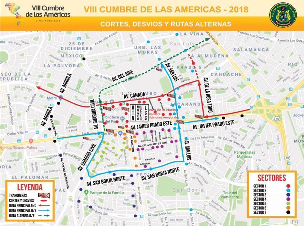 Cumbre de las Américas: Conoce el plan de desvíos dispuesto para la realización del magno evento.