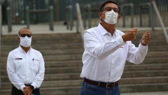 Presidente Martín Vizcarra hizo un llamado a la población para luchar juntos en contra del coronavirus. (Foto: GEC)