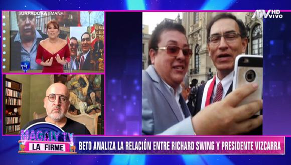 Beto Ortiz se pronuncia sobre audios del presidente Martín Vizcarra. (Foto: Captura Magaly TV: La Firme)