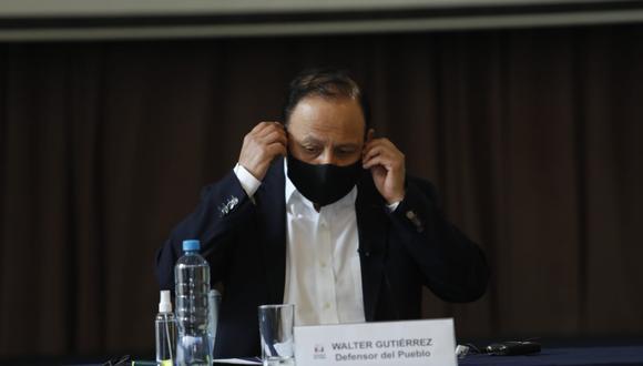 El defensor del Pueblo dio una conferencia de prensa este lunes, (Fotos Miguel Yovera /@photo.gec)