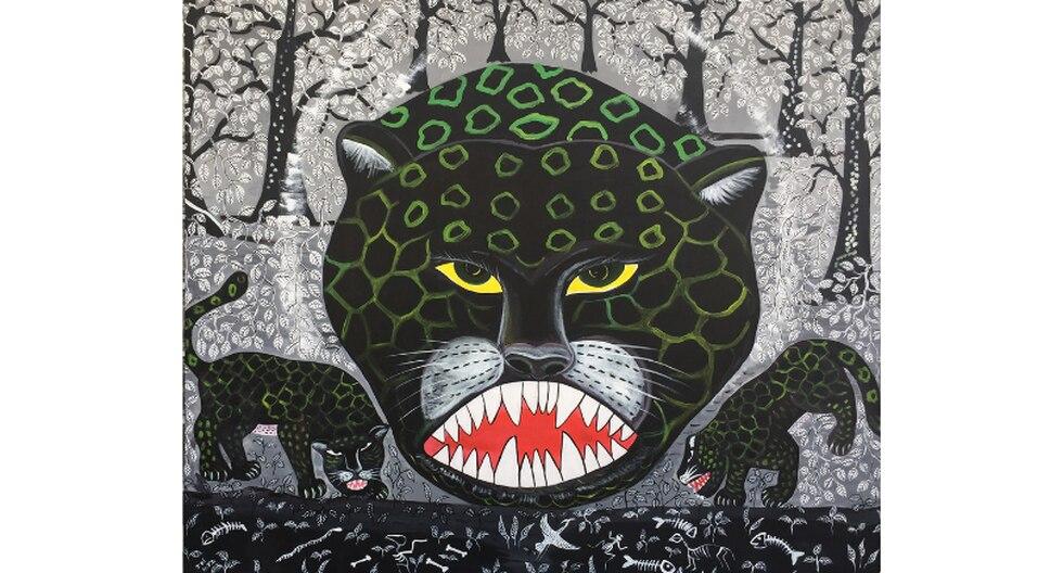 Yanapuma, pintura de Harry Pinedo. (Difusión)