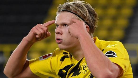 Erling Haaland suma diez goles esta temporada en la Bundesliga. (Foto: AFP)