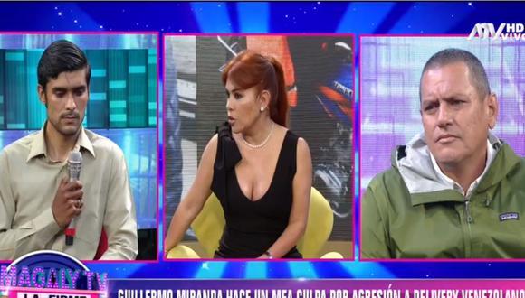 Junior Ramírez y Guillermo Miranda dialogaron en el programa de Magaly Medina. (ATV)