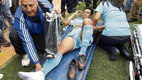 Joazinho Arroé tiene para tres meses de para. (Foto: Diario El Bocón)