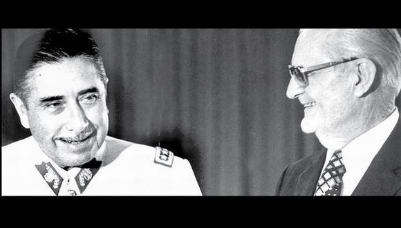 Augusto Pinochet y Ernesto Geisel (Fuente: Folha de Sao Paulo)