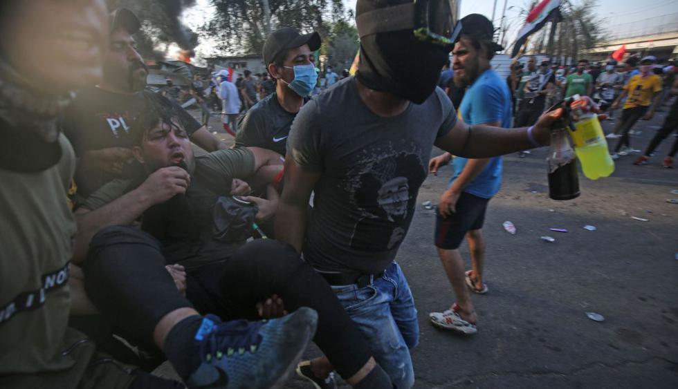 Irak: Sube a 46 la cifra de muertos por fuertes protestas. (Foto: AFP)