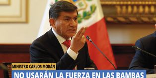 Carlos Morán aseguró que no usarán la fuerza en Las Bambas