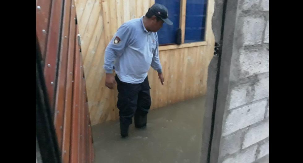 Catorce viviendas resultaron inundadas por intensas lluvias en los distritos arequipeños de Yura, Mariano Melgar y Alto Selva Alegre (GEC)
