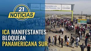 Manifestantes bloquean Panamericana Sur en ICA