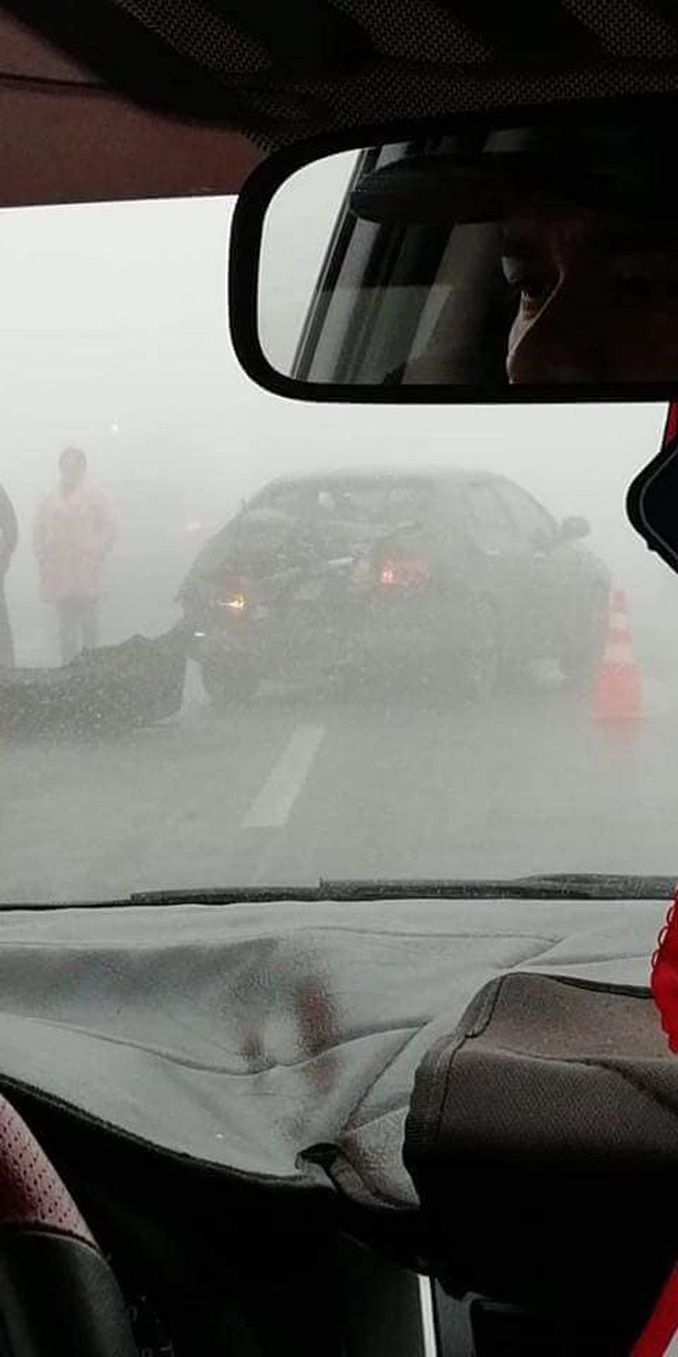 Accidente se registró en el kilómetro 55 de la Panamericana Norte. (Foto: Facebook)
