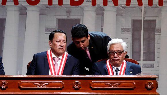 El fiscal supremo Luis Arce (izquierda) es miembro del Jurado Nacional de Elecciones. (GEC)