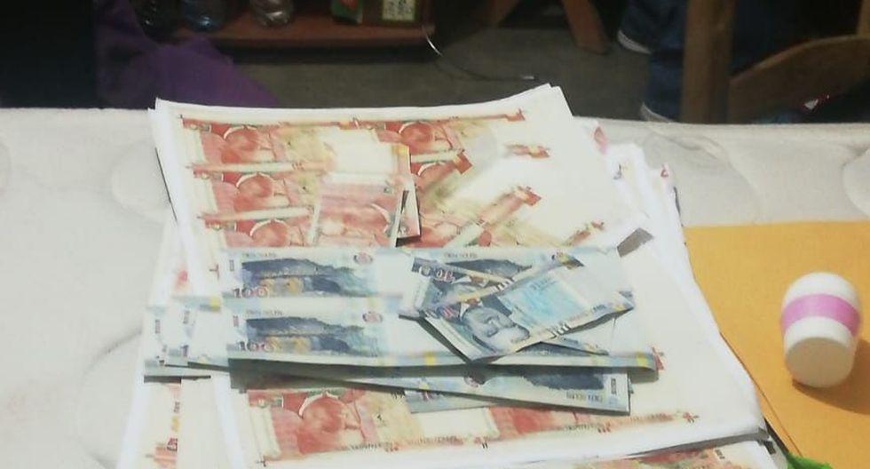 Dinero falso estaban listos en billetes para ser comercializados y en placas. (PNP)