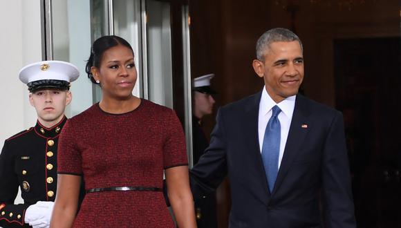 """Barack y Michelle Obama recordaron  que la muerte de Floyd resonó """"en todo el mundo"""", pero siempre existió la pregunta más básica: """"¿Se haría justicia?"""". (Foto: JIM WATSON / AFP)"""