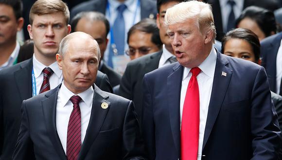 Donald Trump se reunirá en los próximos días con su homólogo ruso, Vladimir Putin. (Foto: AFP)