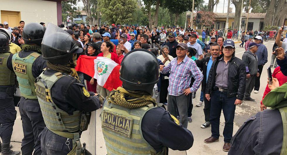 Violencia durante instalación de la administración judicial en la azucarera Tumán. (Nadia Quinteros)
