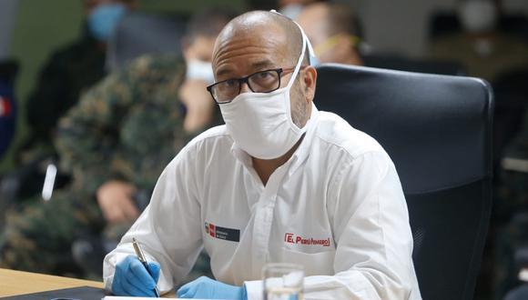 """""""Hoy, en el Día del Padre, quiero agradecer el inmenso trabajo que los héroes de la salud realizan para enfrentar la pandemia"""", señaló Víctor Zamora (Foto: Minsa)"""