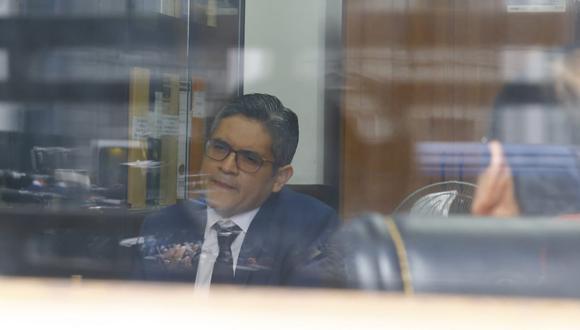 Fiscal José Domingo Pérez declara en el Palacio de Justicia. (Allen Quintana/GEC)