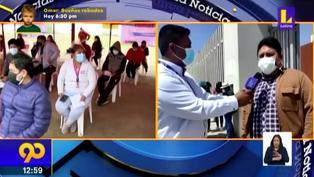 Tacna: Universitarios menores de edad reciben primera dosis contra la Covid-19