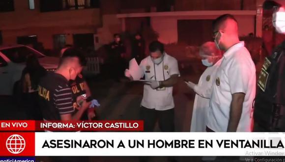 Los peritos de criminalística llegaron al lugar para recoger los casquillos y analizar las cámaras de seguridad. (América Noticias)
