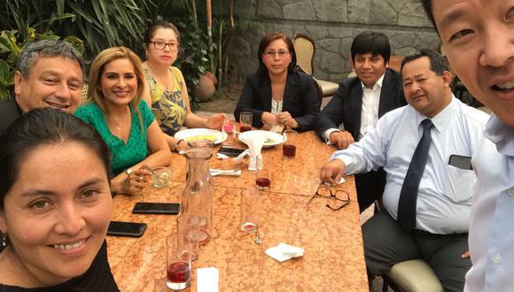 Kenji Fujimori se reunió con congresistas que frustraron vacancia presidencial. (Twitter)