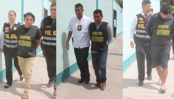 Los tres detenidos fueron trasladados a la sede de la Divincri de la ciudad de Piura. (Foto: GEC)