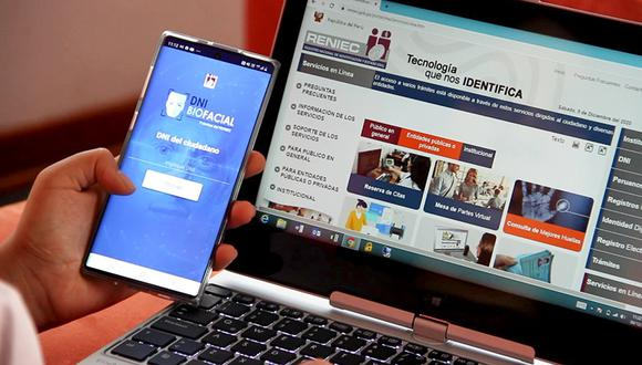 El RENIEC ha habilitado una plataforma web especial para tramitarlo de forma virtual, ya sea para renovar el DNI azul o el electrónico. (Foto: Reniec)