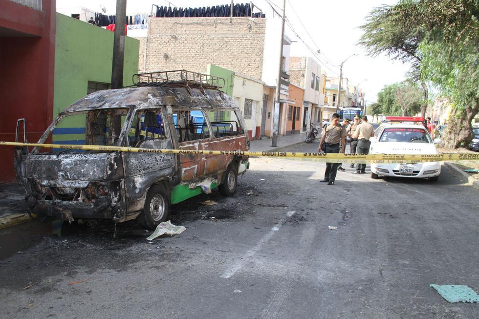 Las bandas se disputan el cobro de cupos a transportistas en La Esperanza. Si estos se niegan a pagar cupos, les balean o queman sus unidades.