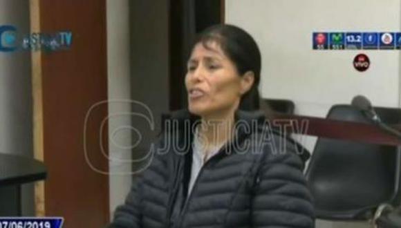 El Poder Judicial dictó siete meses de prisión preventiva en su contra. (Foto: Captura Justicia TV)