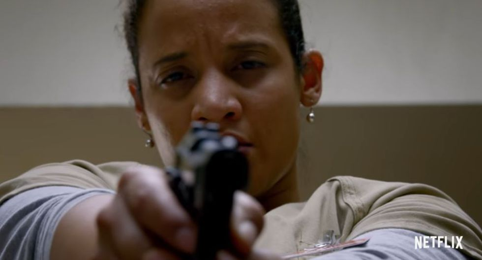 Continuando con momentos polémicos, cuando Daya termina con un arma, apuntándole a Humphrey fue otro momento recordado (Netflix)