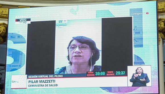 Elizabeth Astete y Pilar Mazzetti se defendieron ante el Pleno del Congreso. (Foto: Congreso de la República)
