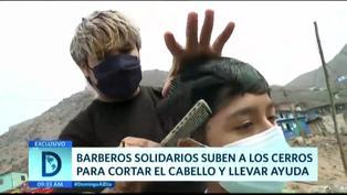 Barberos solidarios llegan hasta los cerros para cortar cabello y ofrecer víveres en San Juan de Lurigancho