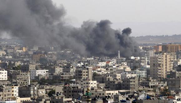 Impacto de misil en Gaza. (AP)