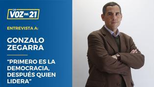 """Gonzalo Zegarra: """"Primero es la democracia, después quien lidera"""""""