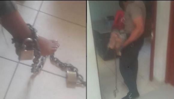 Piura: Policía rescató a tres menores de edad que permanecían encerrados y encadenados. (Facebook)