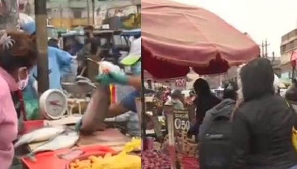 Ambulantes invaden nuevamente 'La Paradita' pese a riesgo de contagio del COVID-19. (Captura de TV)