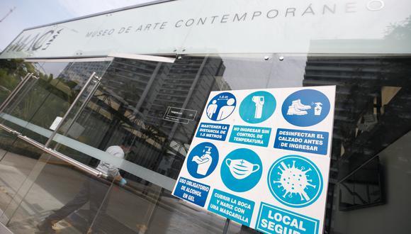 El Museo de Arte Contemporáneo reabrió sus puertas el 15 de abril con todas las medidas de bioseguridad y dos exposiciones sobre el arte peruano.  (Foto: Eduardo Cavero/GEC)