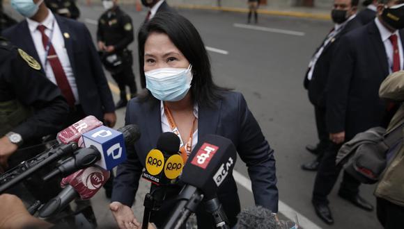 El pasado 21 de junio el Poder Judicial rechazó el pedido para revocar por prisión preventiva la comparecencia dictada a la lideresa de Fuerza Popular, Keiko Fujimori. (Foto: GEC)