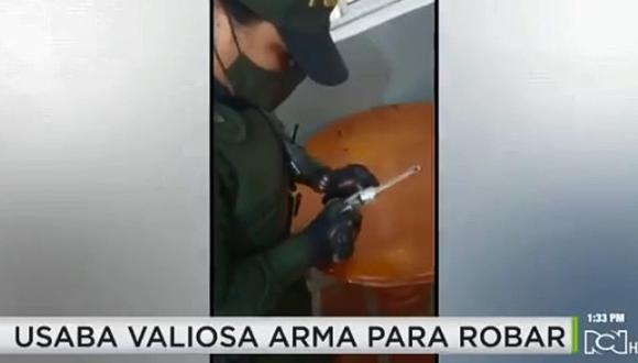 Detenido por robar con arma histórica utilizada en la II Guerra Mundial. (Foto: @NoticiasRCN / Twitter)