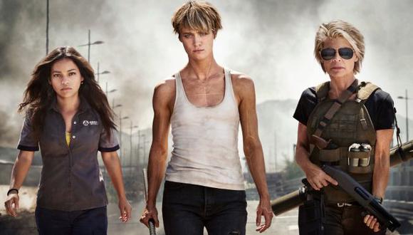 Natalia Reyes, Mackenzie Davis y Linda Hamilton aparecen en la imagen que fue dada a conocer este miércoles por Paramount Pictures. (@Terminator)