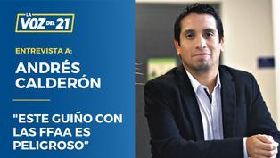"""Andrés Calderón: """"El guiño con las FFAA es peligroso"""""""