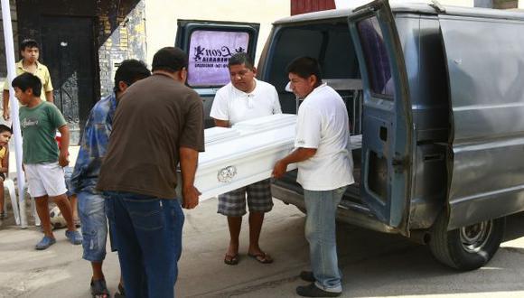 TRISTE FINAL. Pequeño fue atacado por can en el primer piso de vivienda en San Martín de Porres. (Ernesto Quilcate/USI)