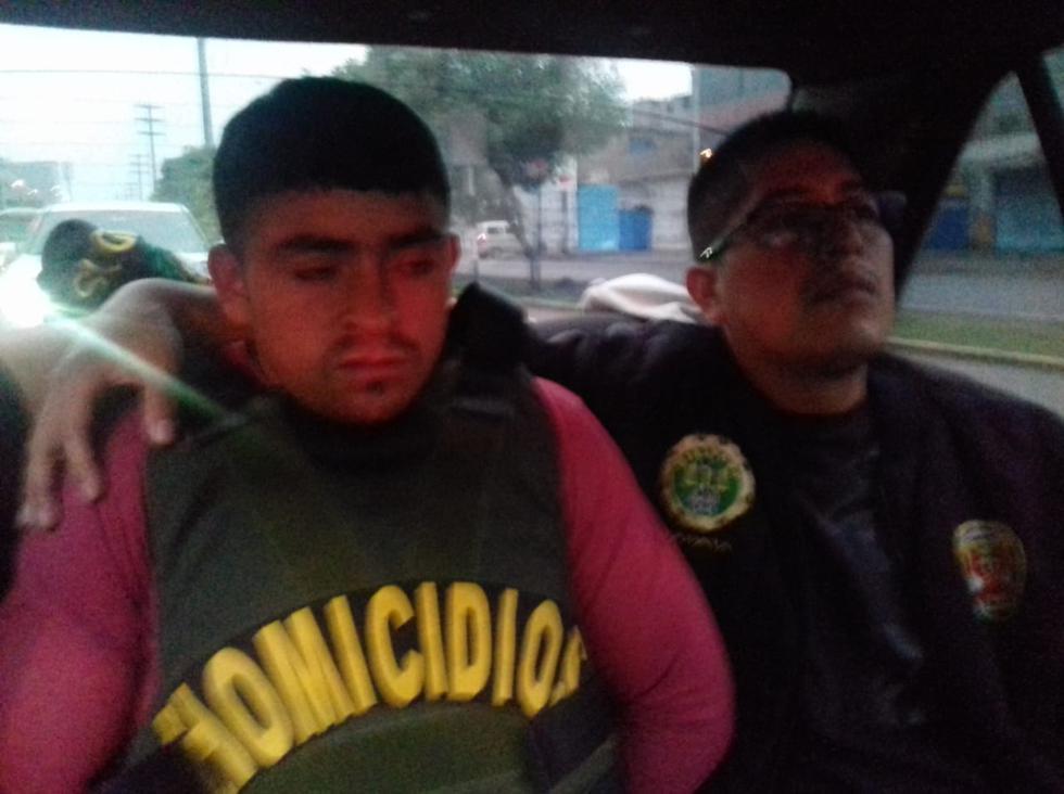 Floriano Arévalo Cotrina (28), detenido en Lima.