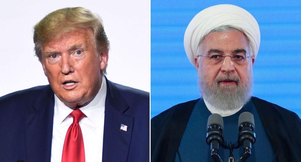 Trump parece que está de acuerdo con la idea de su par francés Macron, quien le propuso un encuentro en las próximas semanas con el mandatario iraní Hassan Rohani. (Foto: AFP)
