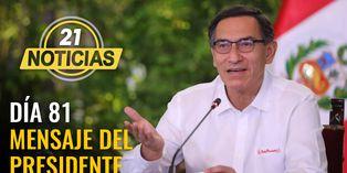 Día 81: Mensaje a la nación del presidente Vizcarra